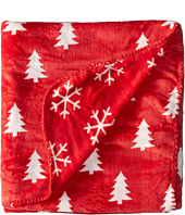 Life is good - Pine Trees and Snowflakes Blanket