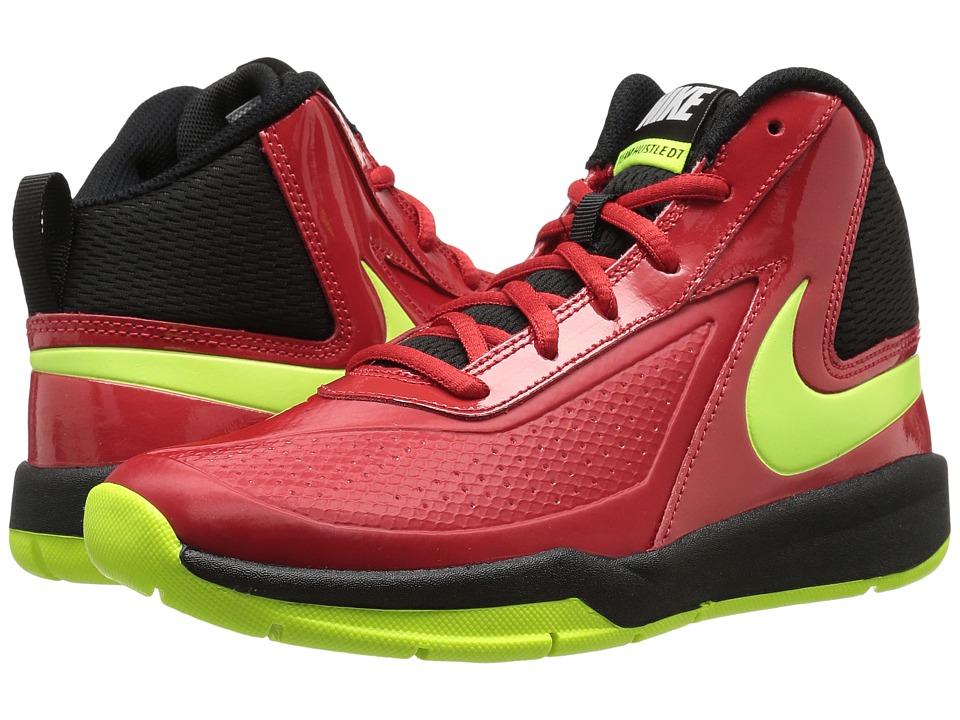Nike Kids Team Hustle D 7 (Big Kid) (University Red/Black/Volt) Boys Shoes