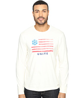 Life is Good - Snowflake Unite Flag Long Sleeve Crusher Tee