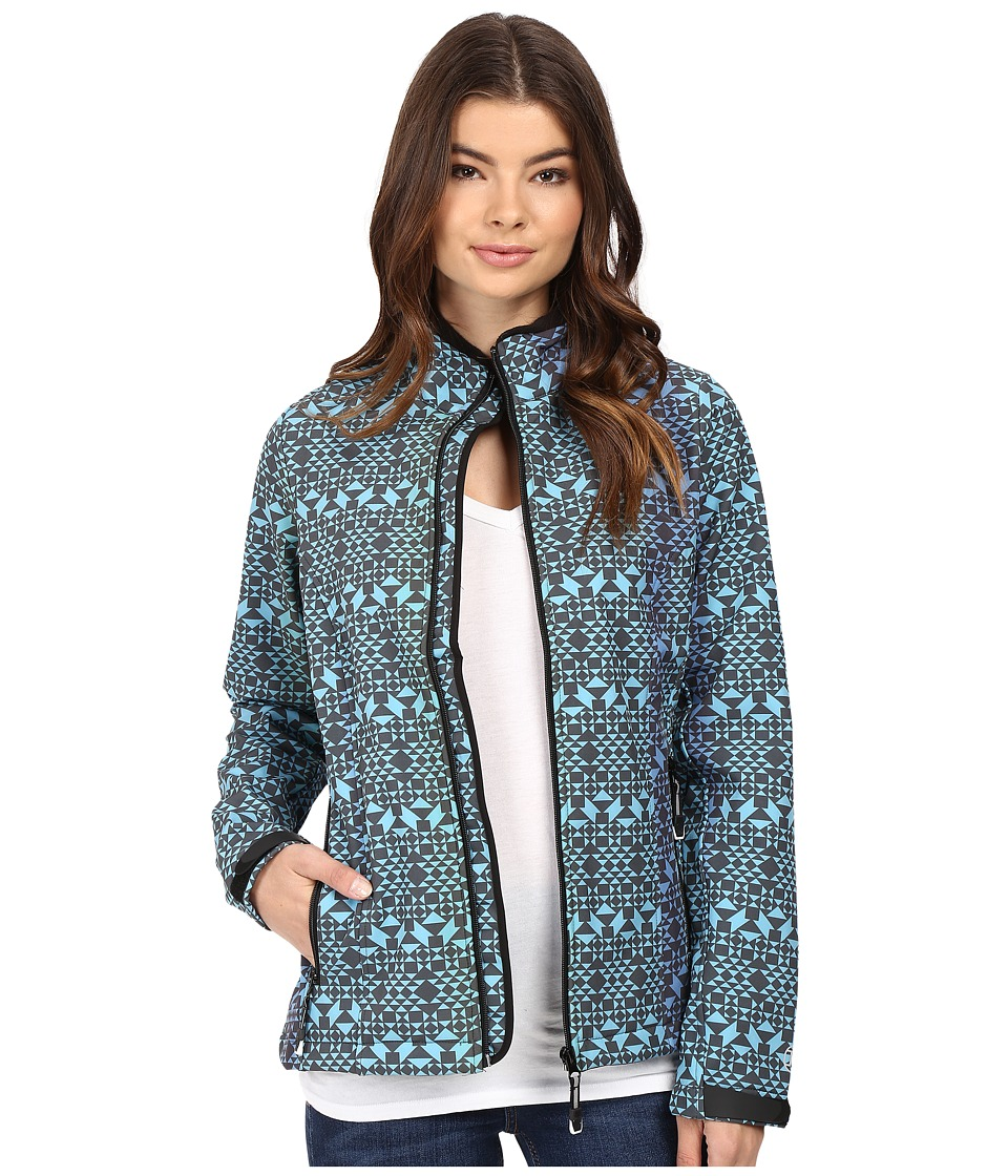 Roper Diamond Aztec Softshell Bomber Jacket (Blue) Women