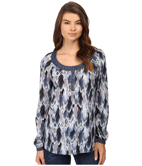 Roper 0540 Feather Print Peasant Blouse