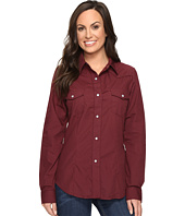Roper - 0735 Solid Broadcloth Fancy Shirt in Wine