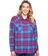 Roper - Plus Size 0510 Bright Ombre Plaid Western Shirt