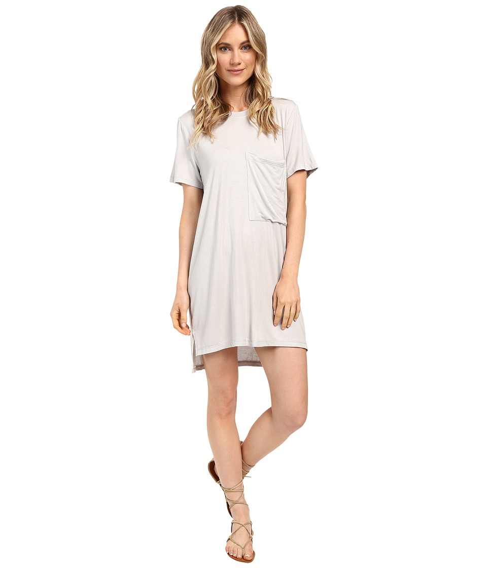Culture Phit - Alba Pocketed Ribbed Dress (Grey) Women