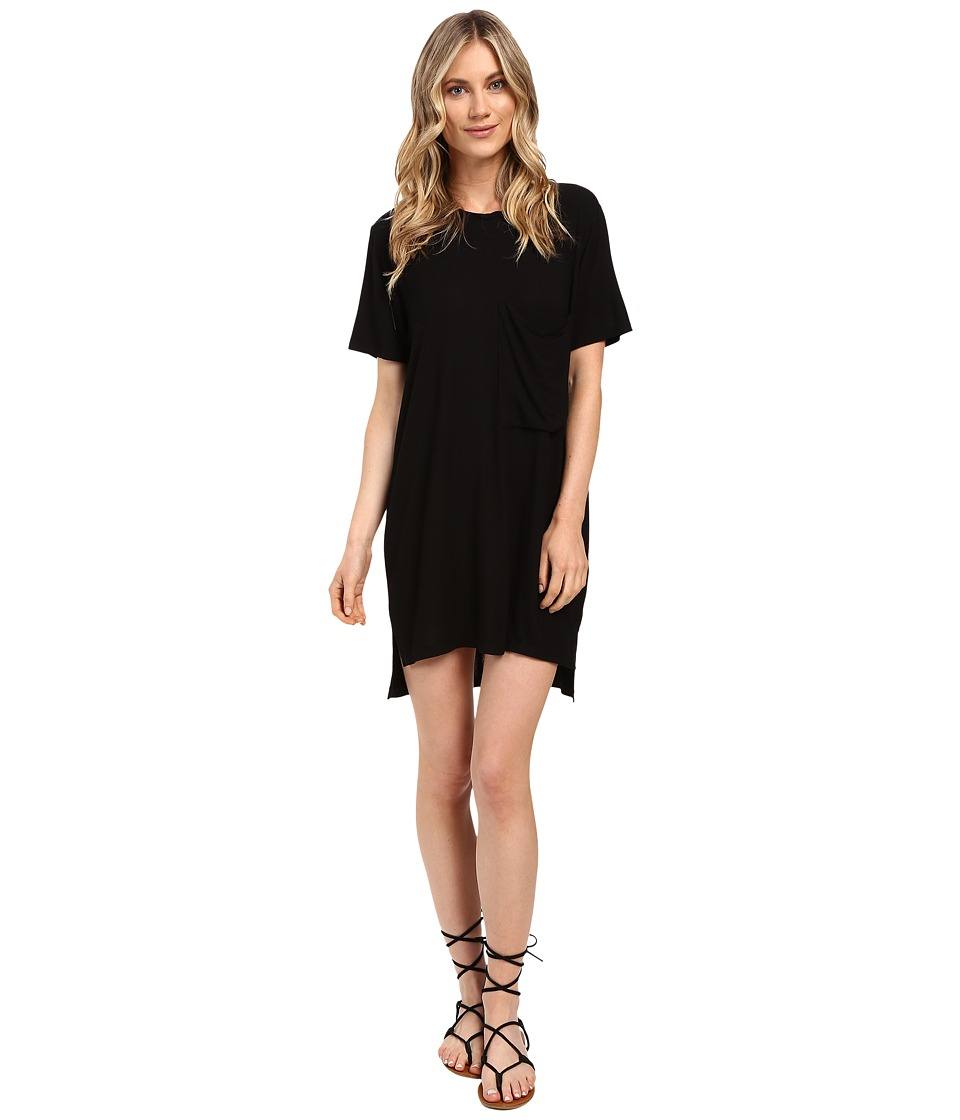 Culture Phit - Alba Pocketed Ribbed Dress (Black) Women