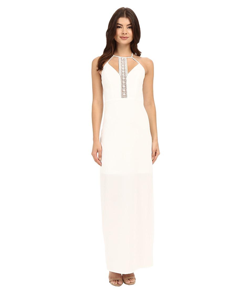Brigitte Bailey Darria Lace Detail Maxi Dress White Womens Dress