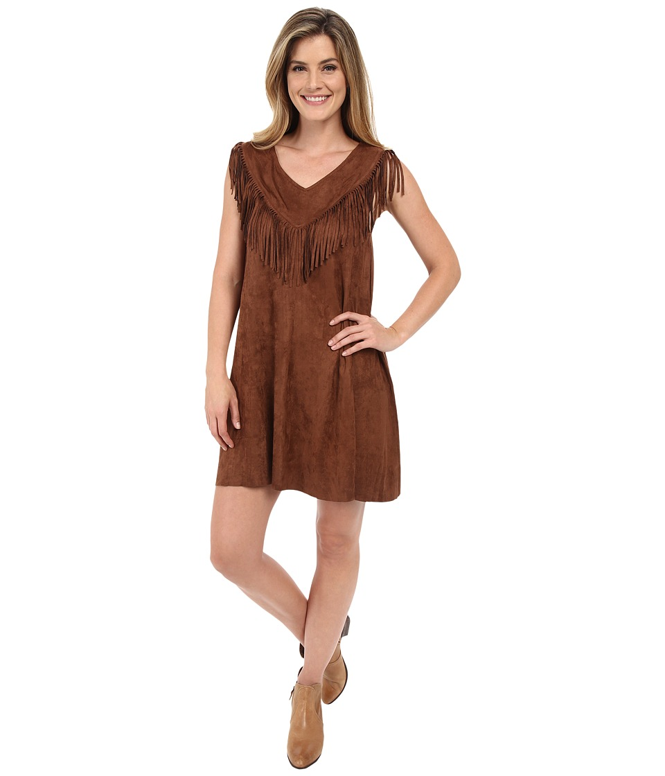 Tasha Polizzi Buckskin Dress Tan Womens Dress