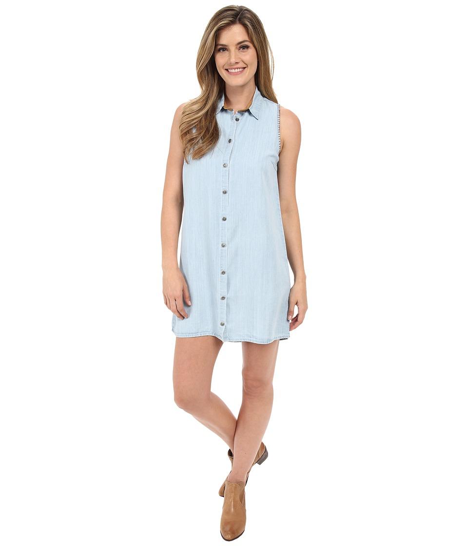 Tasha Polizzi Cowgirl Shirtdress Blue Womens Dress