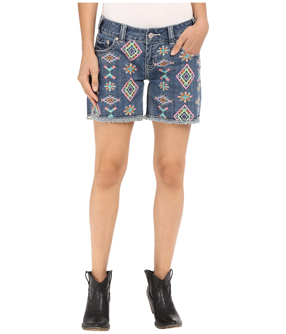 Rock and Roll Cowgirl Low Rise Short 68 7375 Light Wash Womens Shorts