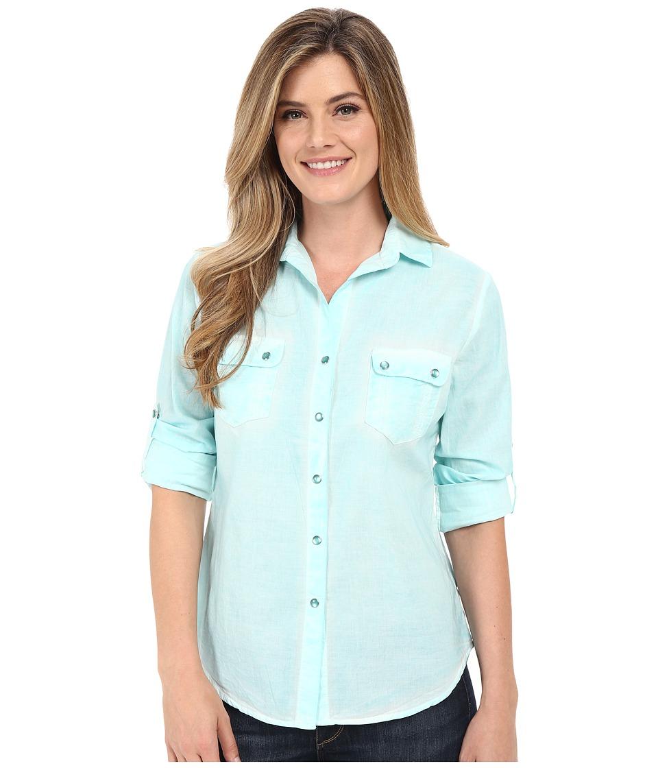 Tasha Polizzi Cancun Shirt Blue Womens Long Sleeve Button Up