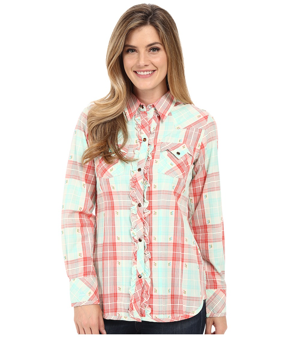 Tasha Polizzi Santa Fe Shirt Coral Womens Long Sleeve Button Up