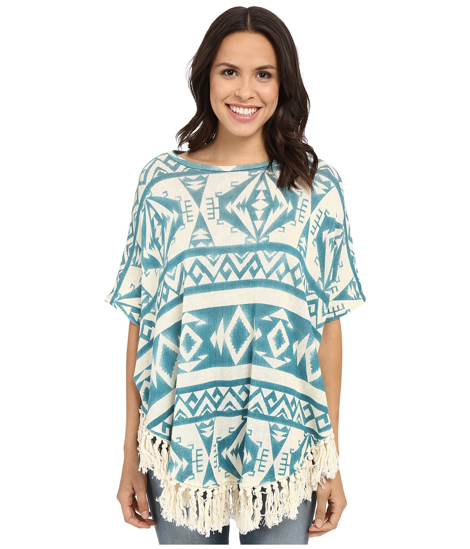 Tasha Polizzi Ahana Poncho Blue Womens Sweater