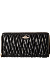 COACH - Gathered Leather Accordian Zip