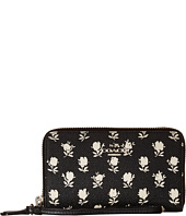 COACH - Printed Crossgrain Leather Double Zip Phone Wallet