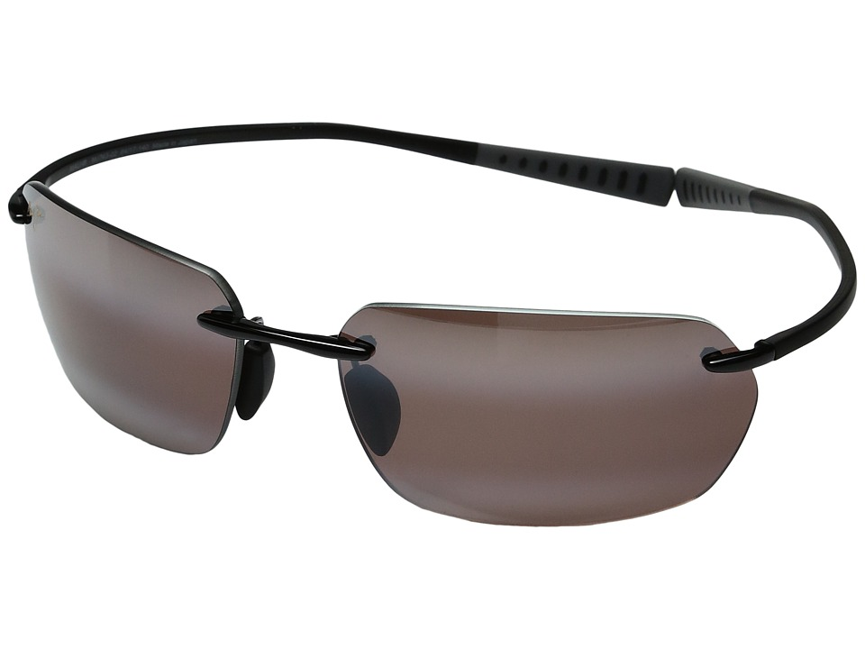 Maui Jim - Alakai (Gloss Black/Maui Rose) Polarized Fashion Sunglasses