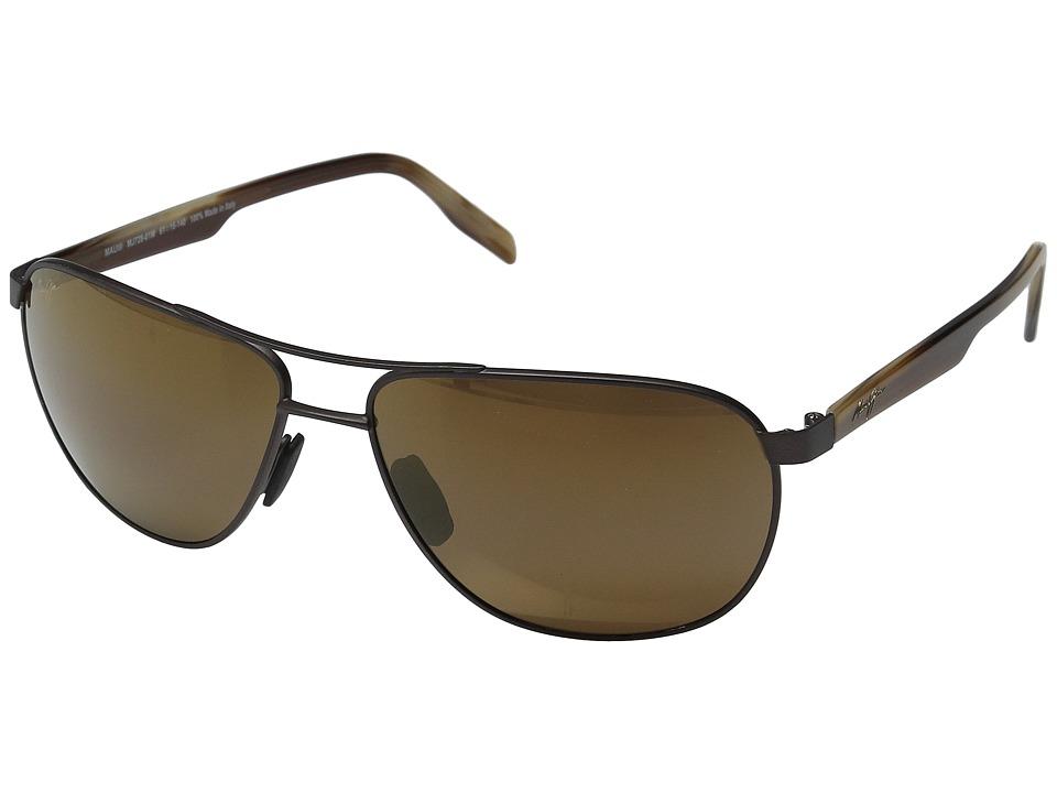 Maui Jim Castles Matte Chocolate/HCL Bronze Polarized Fashion Sunglasses