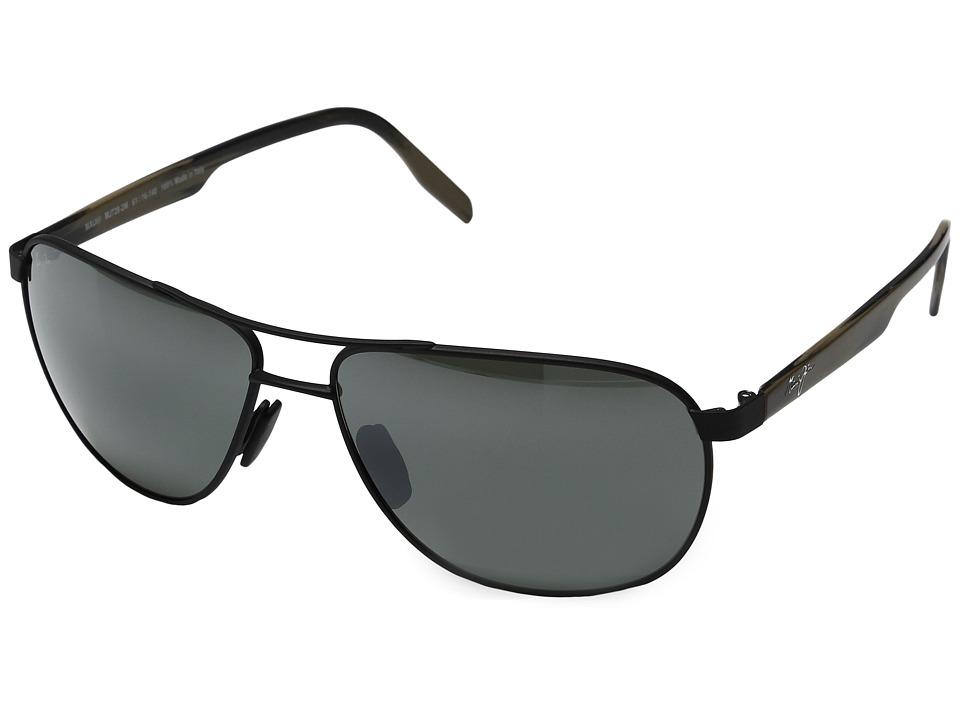 Maui Jim - Castles (Matte Black/Neutral Grey) Polarized Fashion Sunglasses