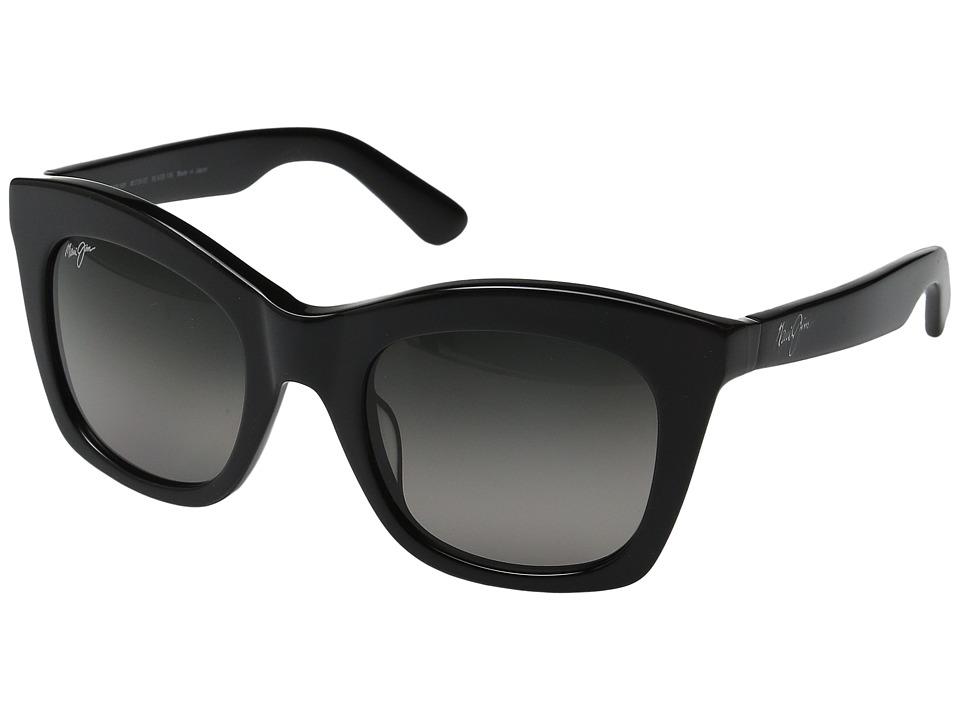 Maui Jim - Coco Palms (Gloss Black/Neutral Grey) Polarized Fashion Sunglasses