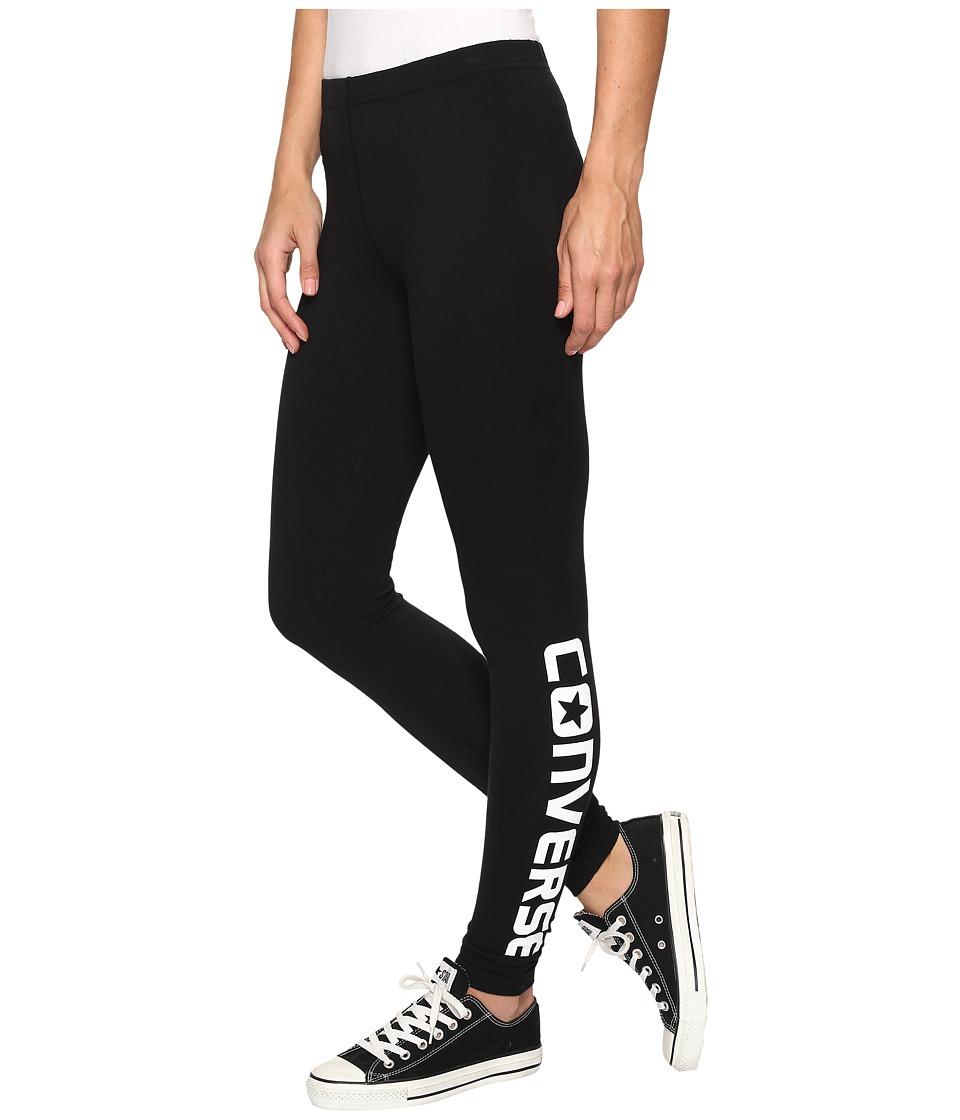 Converse Core Wordmark Leggings (Black) Women