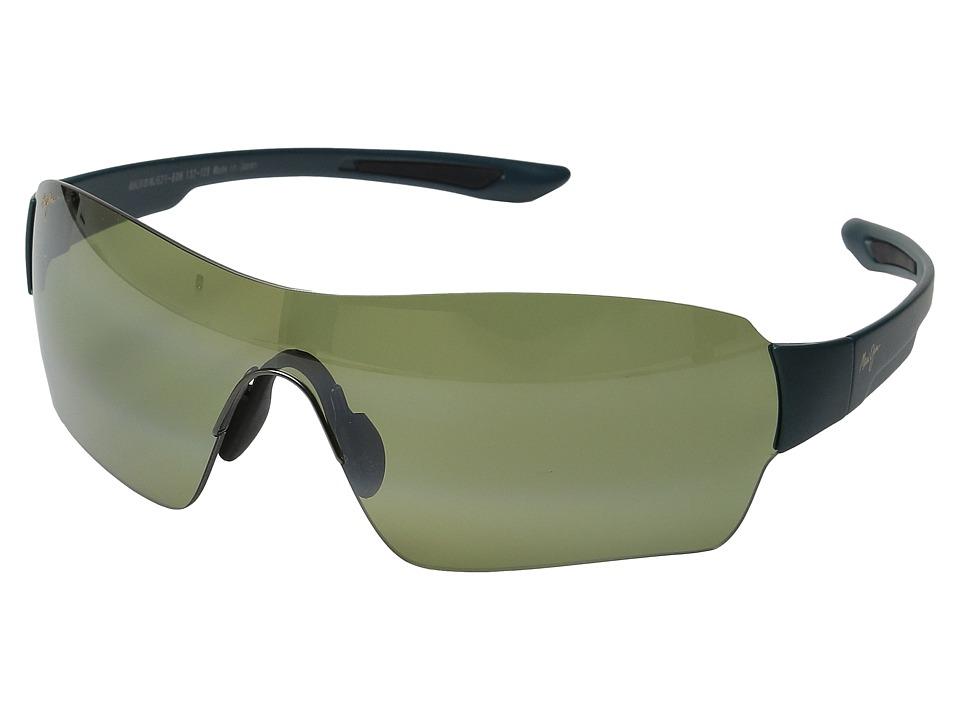 Maui Jim - Night Dive (Matte Aquamarine/Maui HT) Polarized Fashion Sunglasses