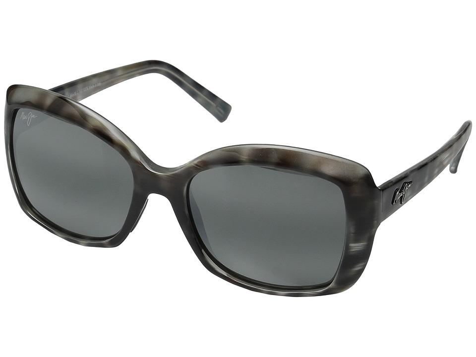 Maui Jim - Orchid (Grey Tortoise Stripe/Neutral Grey) Polarized Fashion Sunglasses