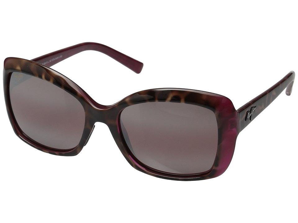 Maui Jim Orchid (Tortoise/Raspberry/Maui Rose) Polarized Fashion Sunglasses