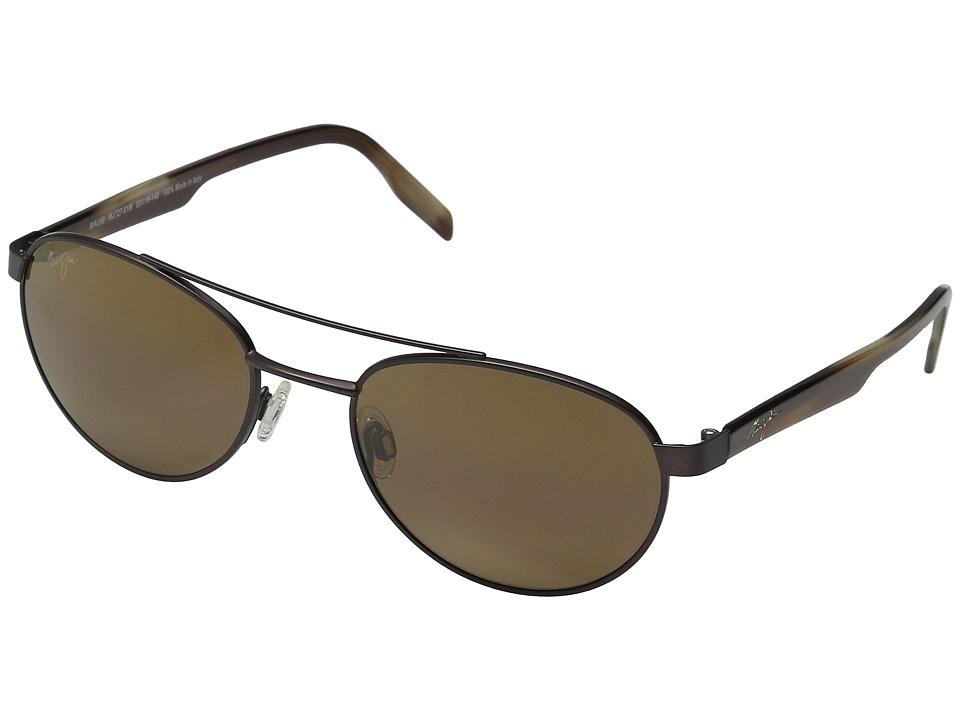 Maui Jim Upcountry Matte Chocolate/HCL Bronze Polarized Fashion Sunglasses