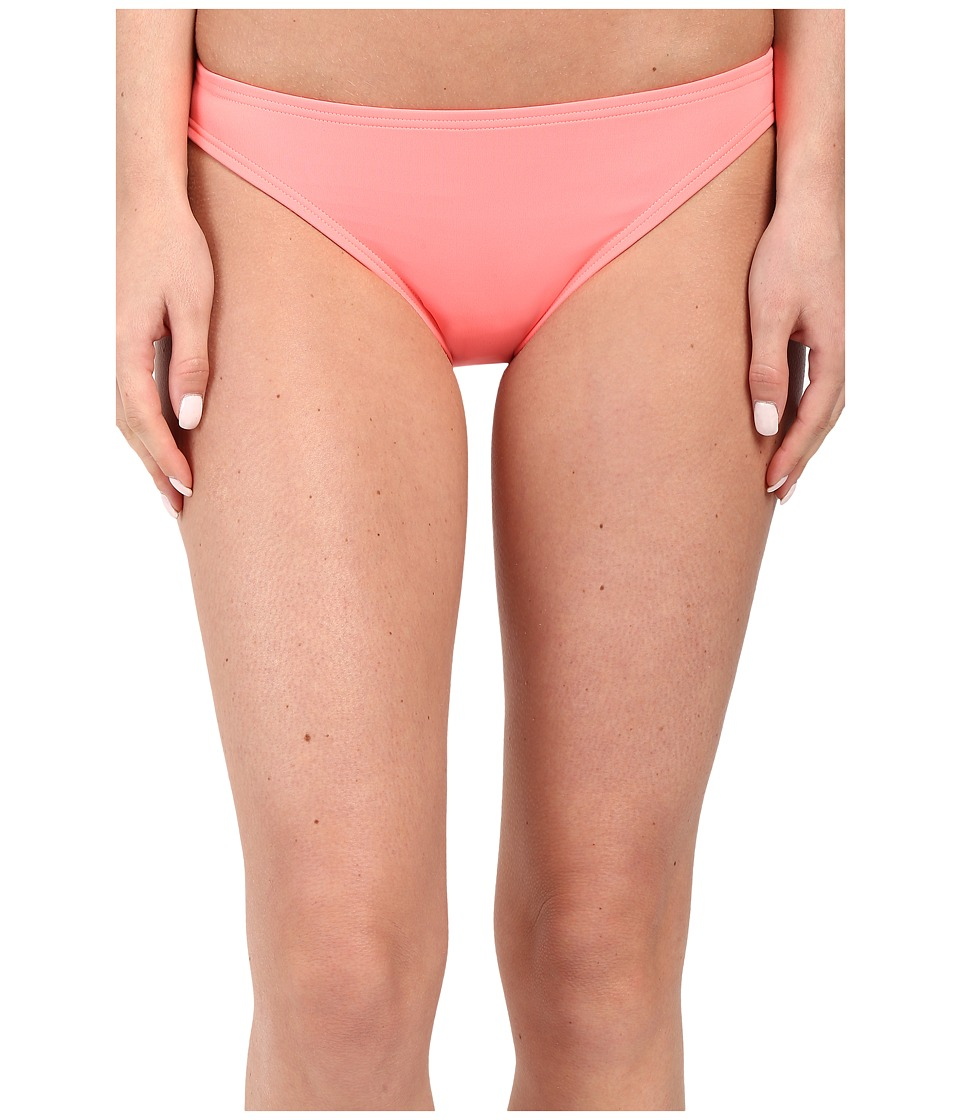Vince Camuto Milos Solids Classic Bottom w/ Logo Bar Coral Sugar Womens Swimwear