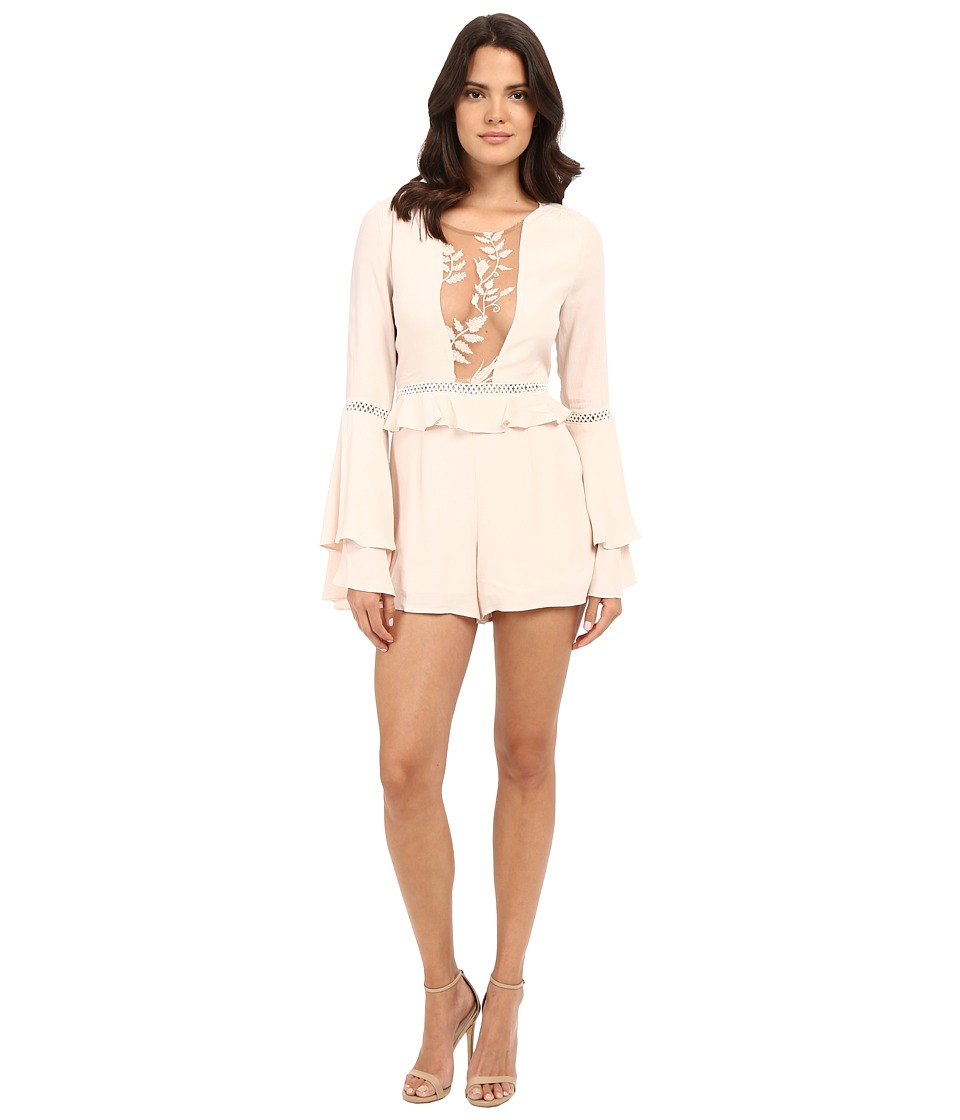 For Love and Lemons Emila Romper Dusty Pink Womens Jumpsuit Rompers One Piece