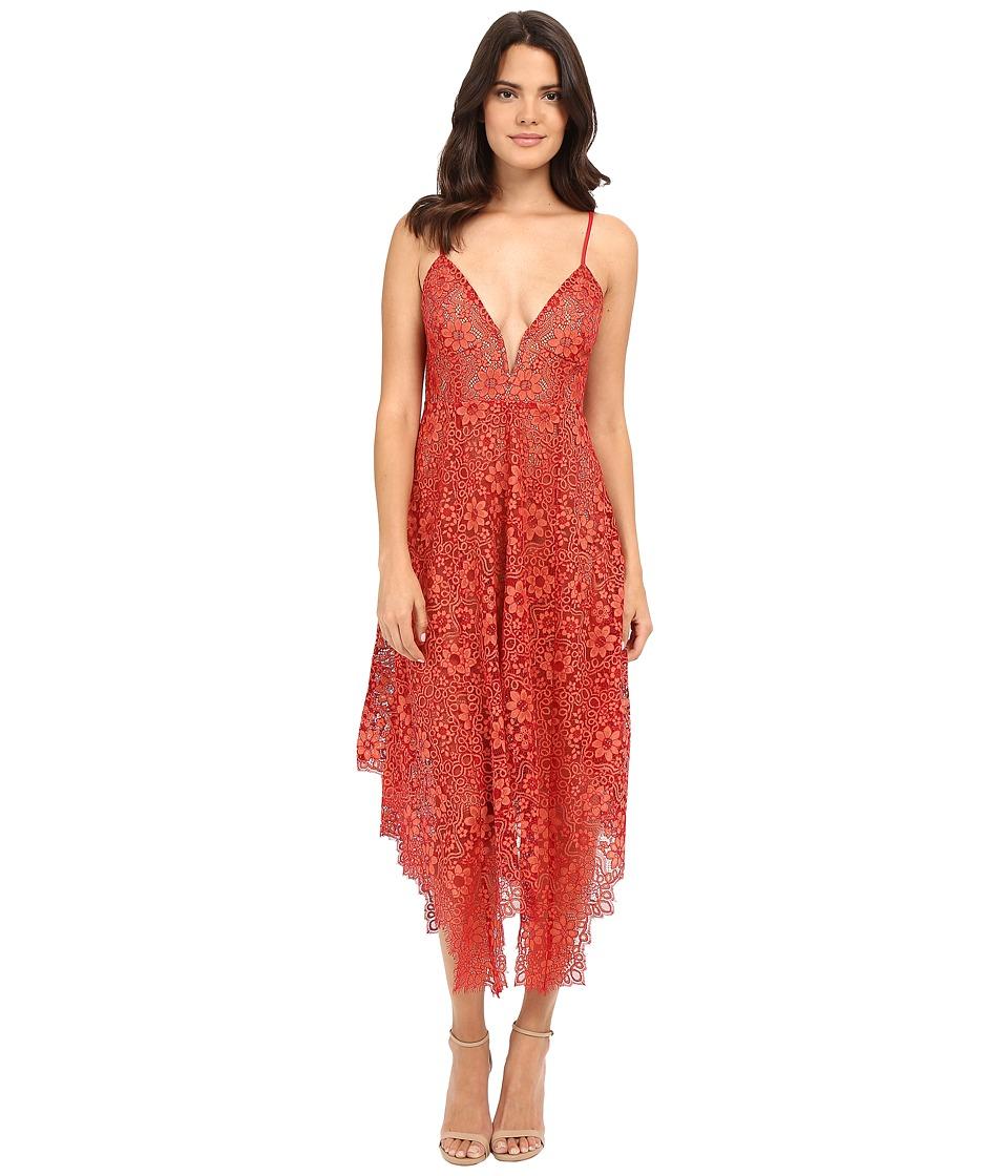 For Love and Lemons Rosemary Midi Dress Cherry Womens Dress