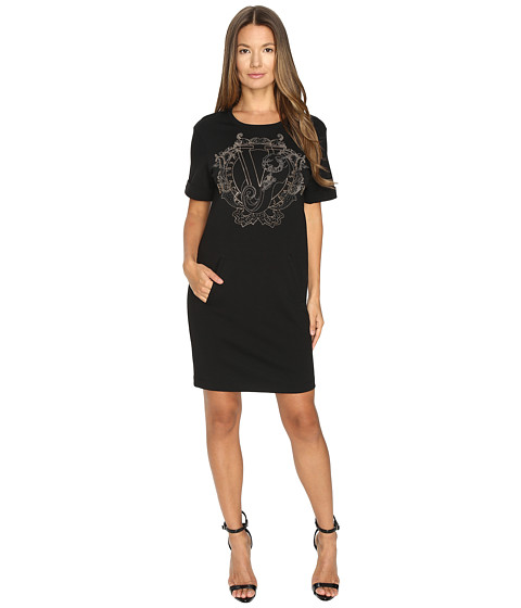 Versace Jeans Short Sleeve Gold Printed T Dress