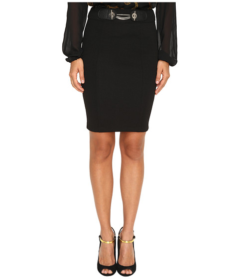 Versace Jeans Pencil Skirt with Chain - Nero
