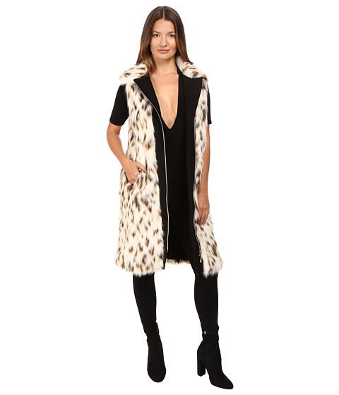 Versace Jeans Cheetah Fur Vest - Bianco Latte