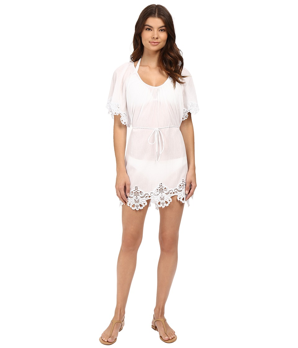Seafolly Beach Smock Dress Cover-Up (White)