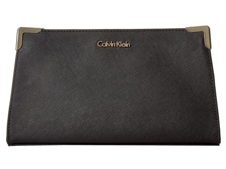 Calvin Klein - Saffiano Clutch (Black) Clutch Handbags