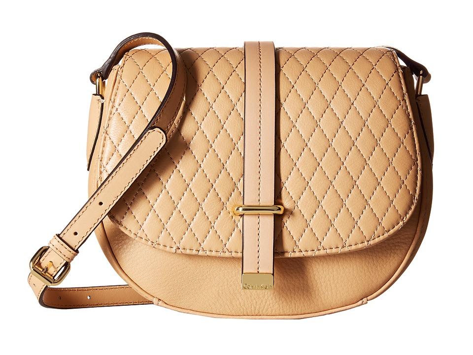 Calvin Klein - Pebble Crossbody (Nude) Cross Body Handbags
