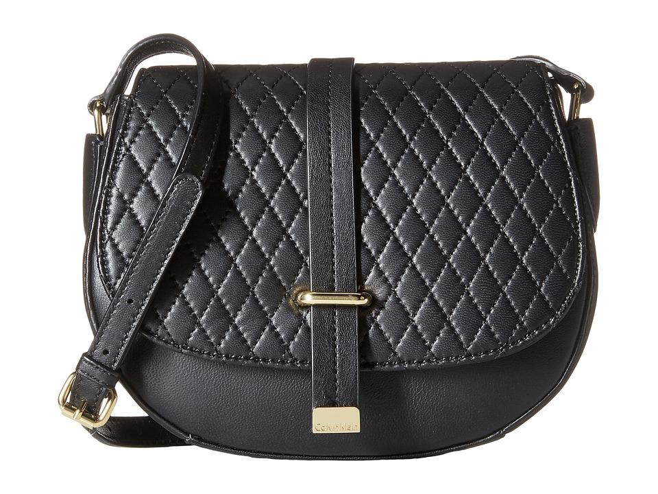 Calvin Klein - Lamb Crossbody (Black/Gold) Cross Body Handbags