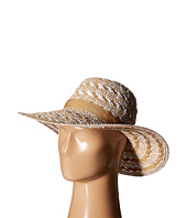 Steve Madden - Floppy Woven Two-Tone Hat