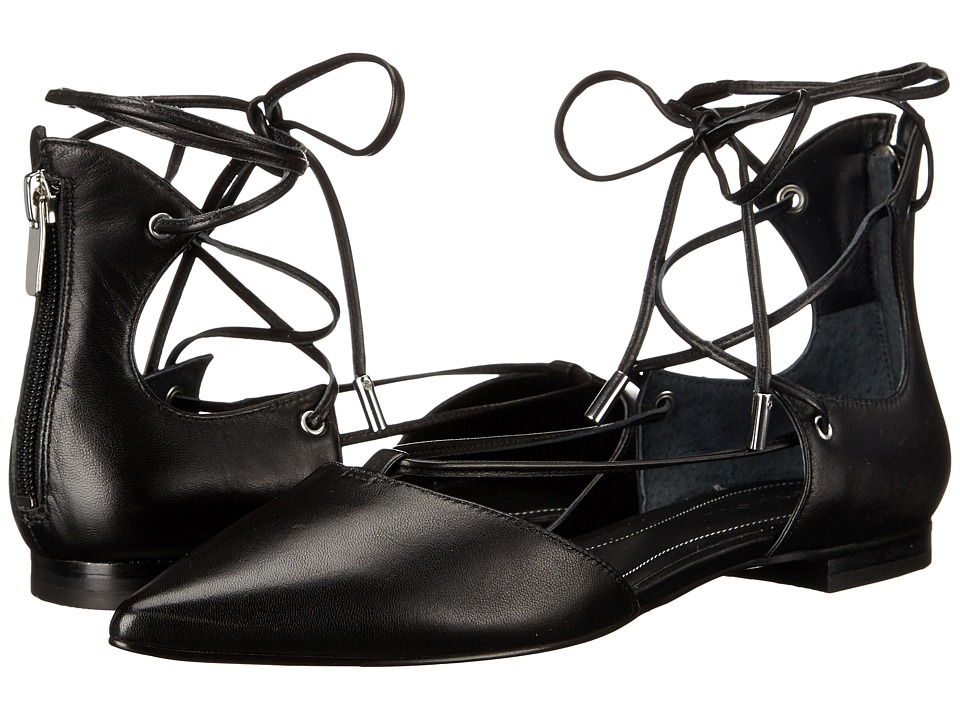 KENDALL KYLIE Sage 2 Black Nappa Womens Flat Shoes