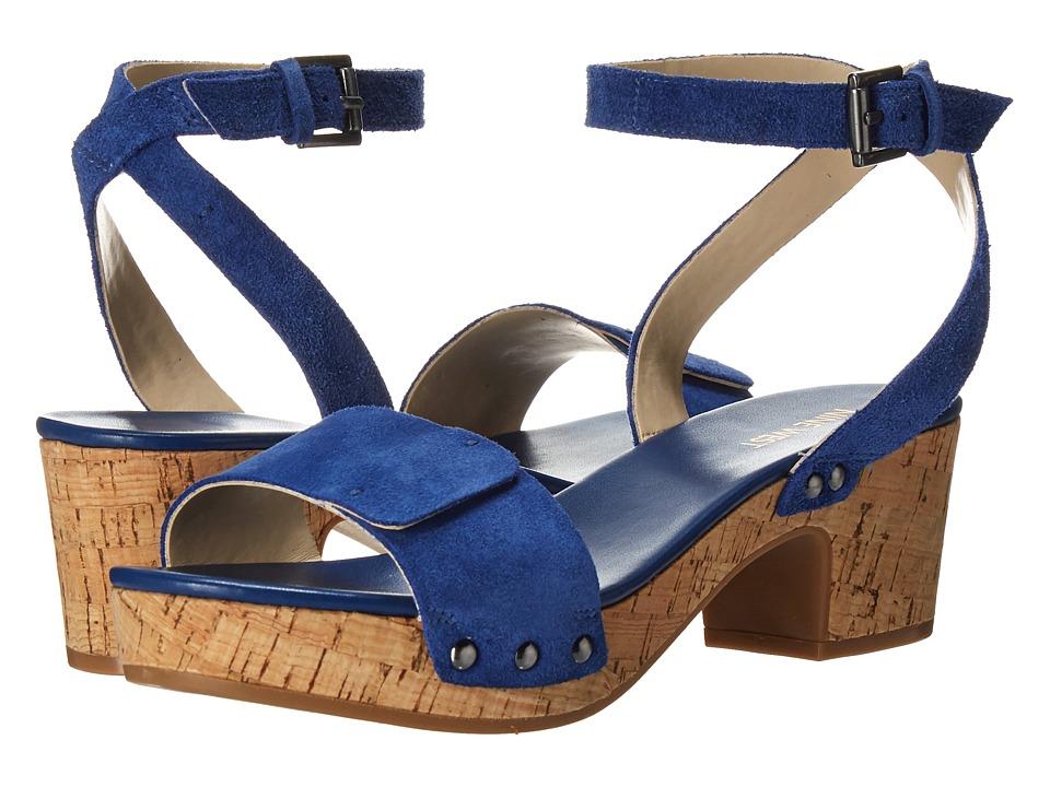 Nine West Fiaz Dark Blue Suede High Heels