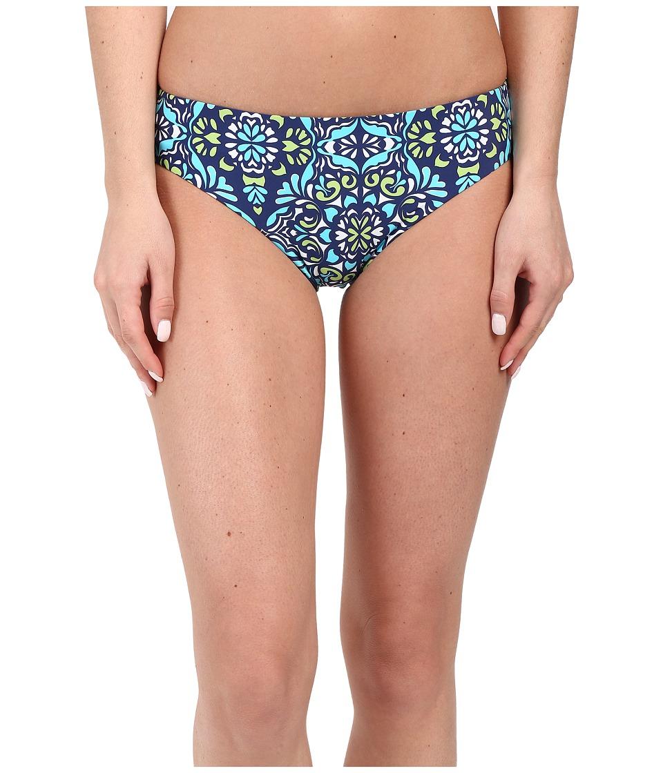 Athena Mosaic Tile Reversible Retro Bottom Navy Womens Swimwear
