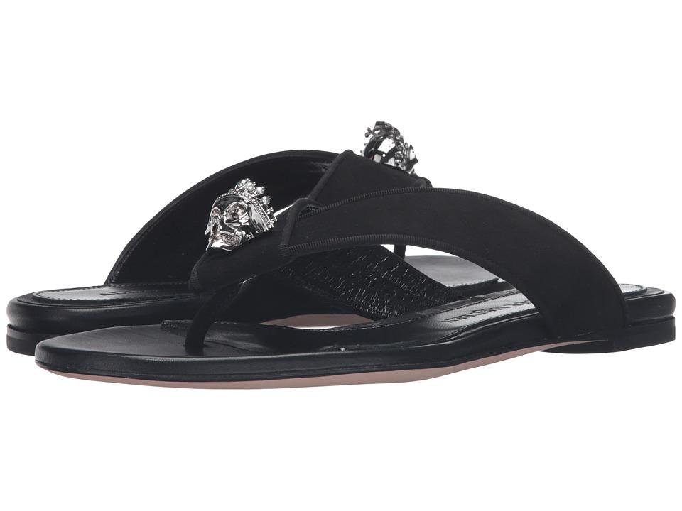 Alexander McQueen Sandal Pelle S.Cuoio (Black/Black) Women