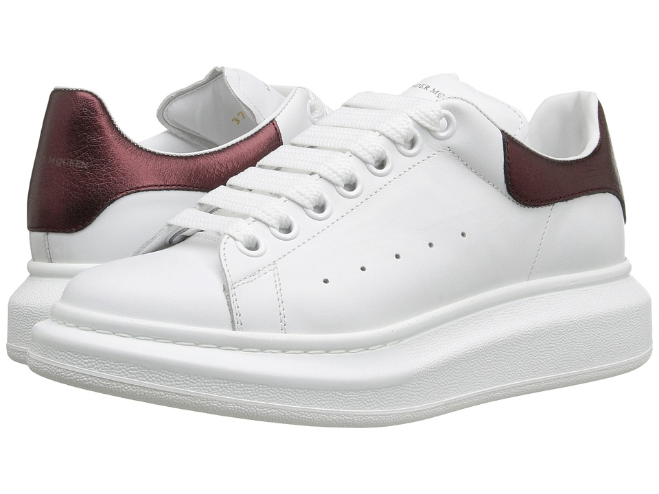 Alexander McQueen Sneaker Pelle S.Gomm (White/Light Oxblood) Women