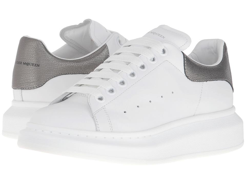 Alexander McQueen Sneaker Pelle S.Gomm (White/Black Pearl) Women