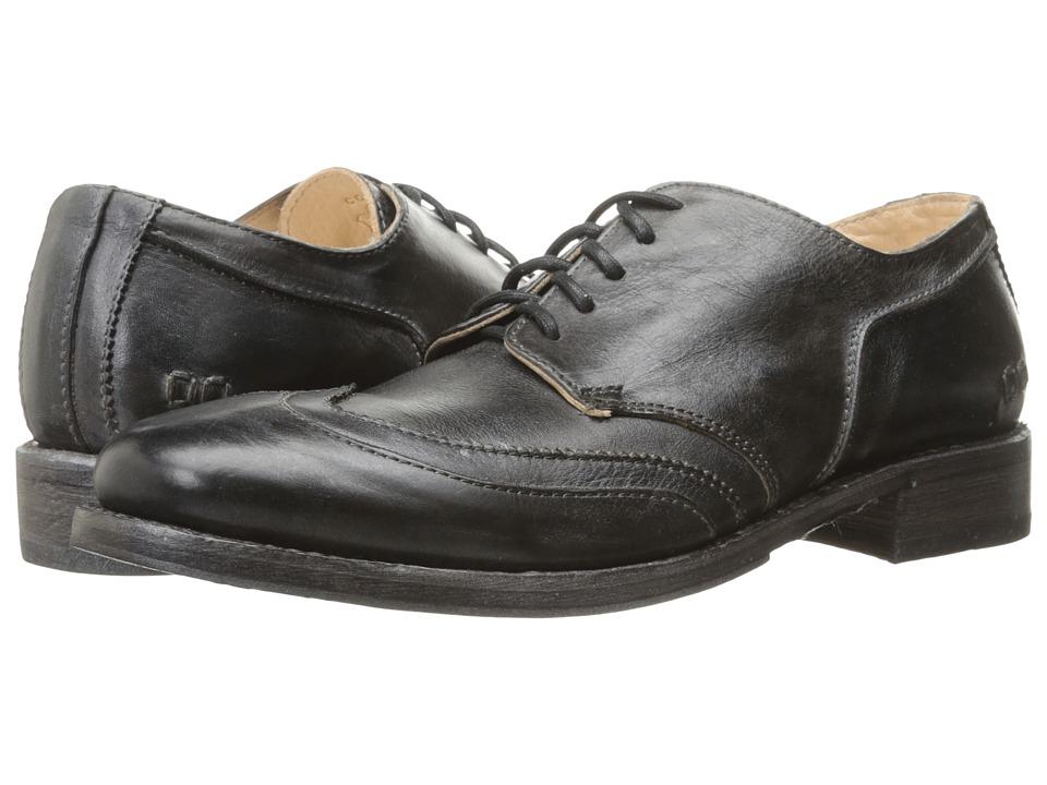 Bed Stu Basalt (Black Rustic Steel Blue Leather) Men
