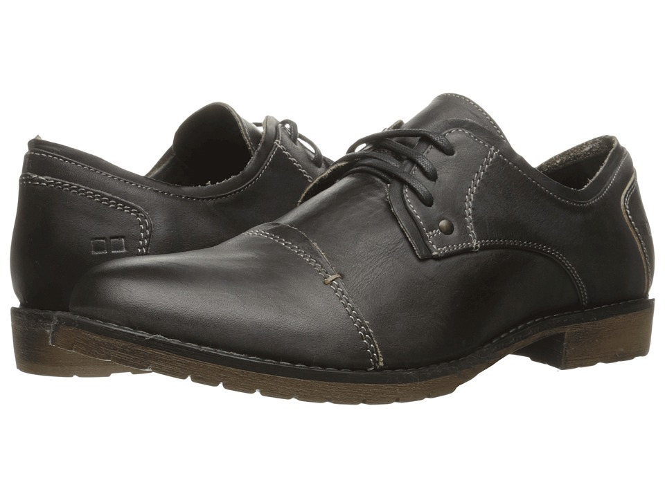 Bed Stu Repeal (Black Rustic Leather) Men