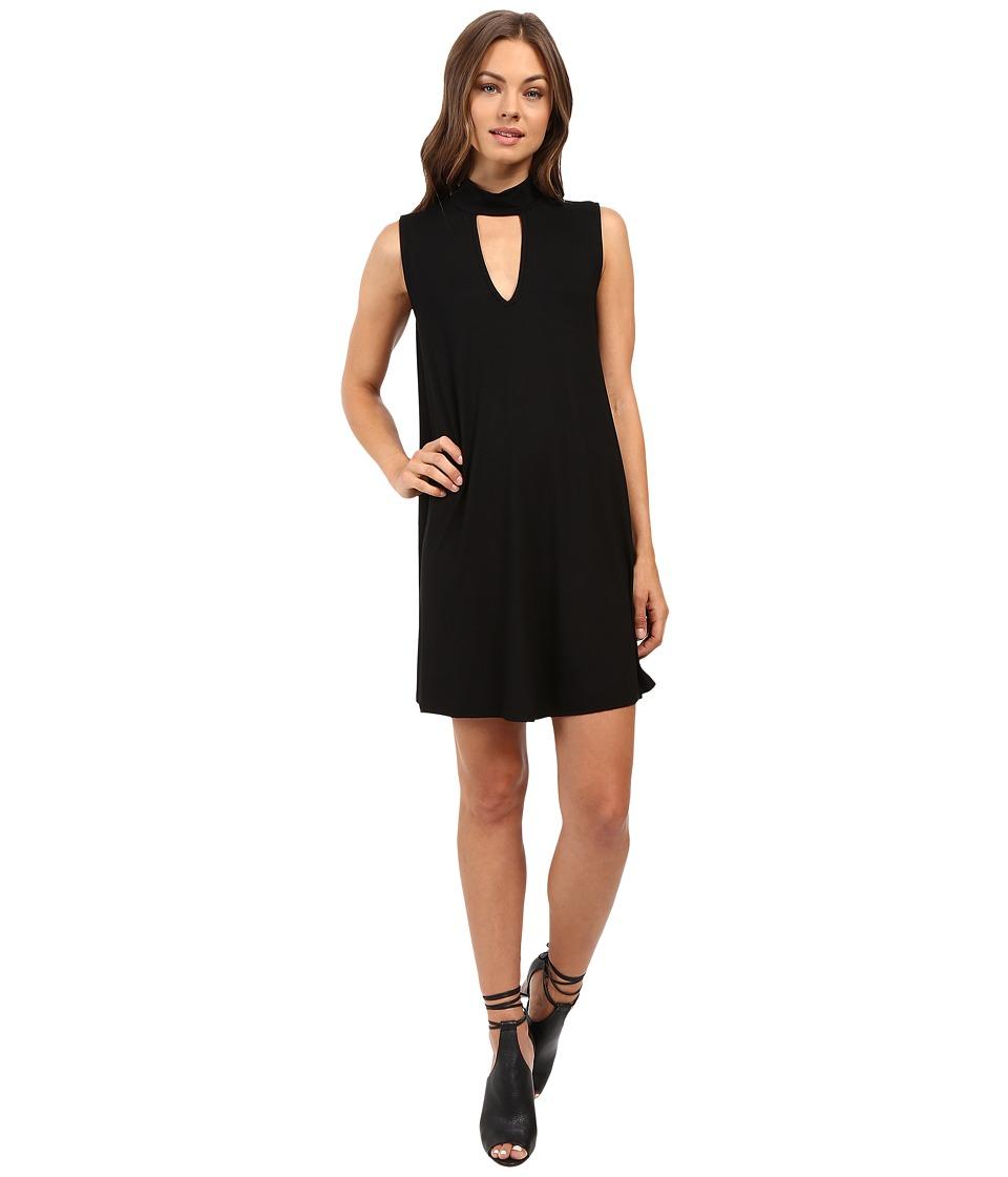 Culture Phit Ashlynn High Neck Dress (Black) Women