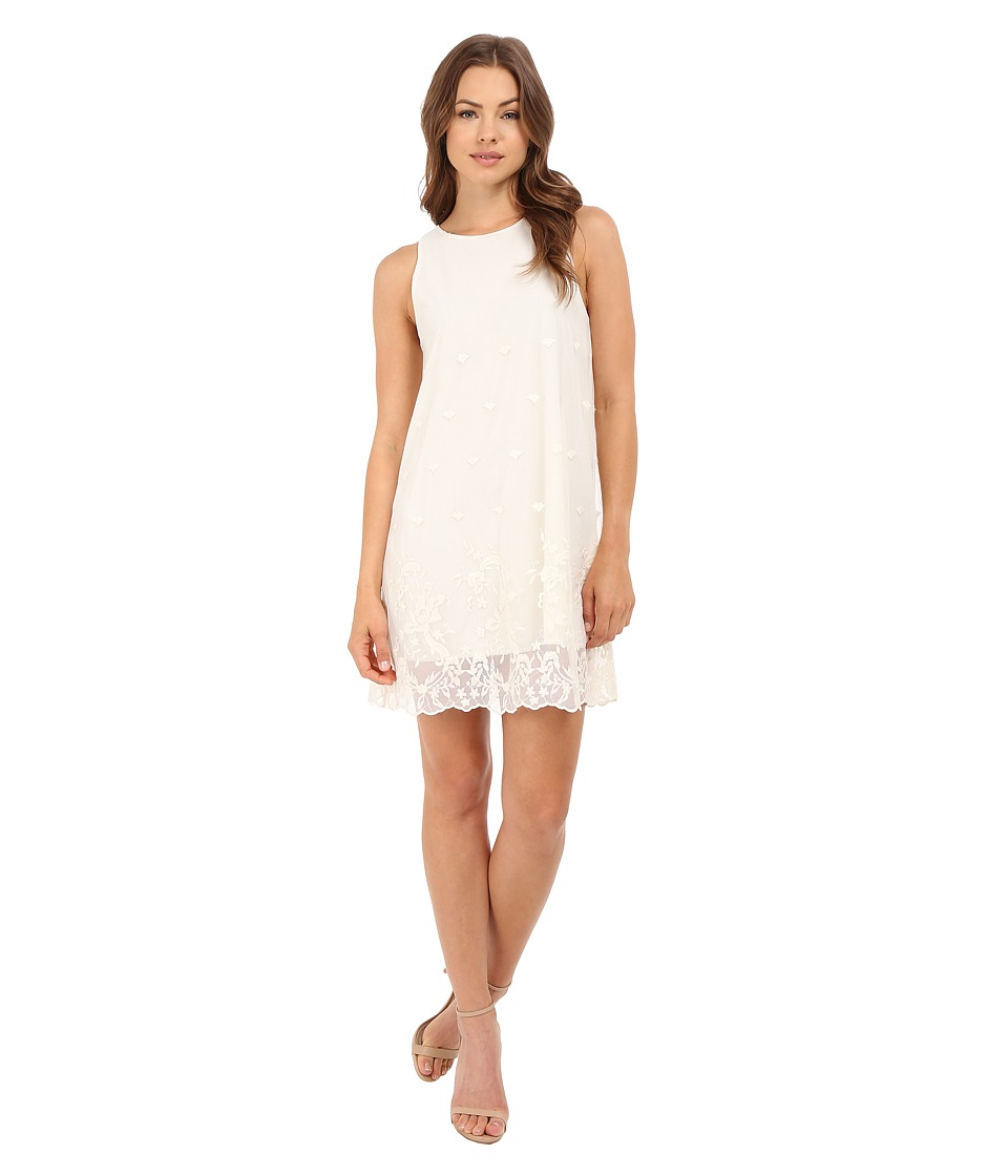 Brigitte Bailey Border Lace Dress Ivory Womens Dress