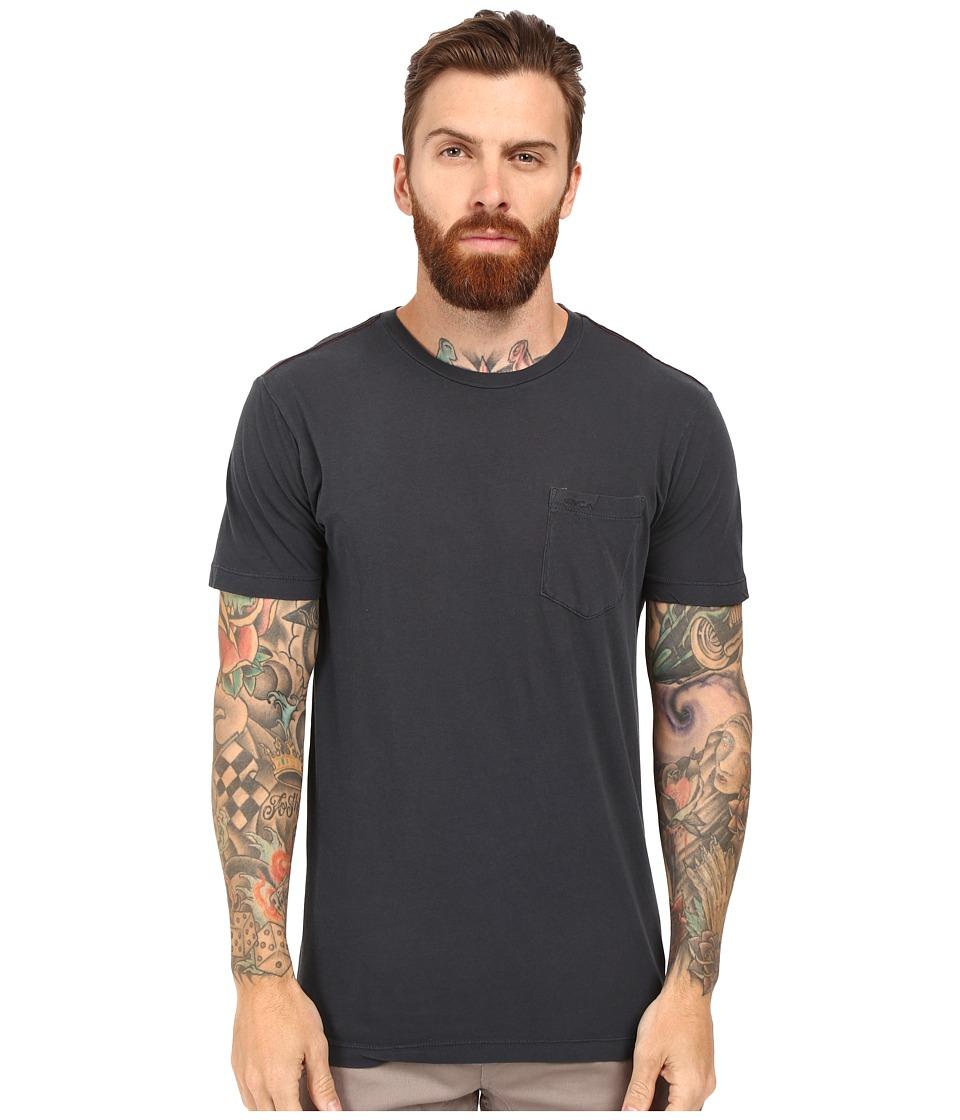 RVCA - PTC 2 Pigment Knit Tee (Carbon) Men