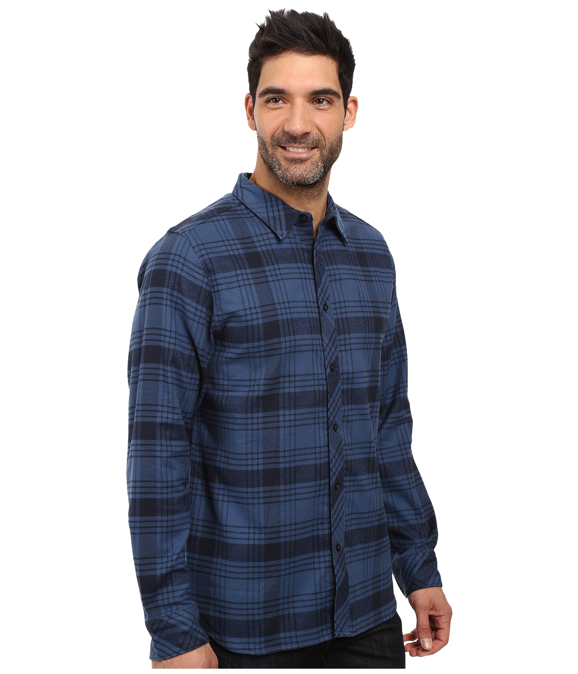 The North Face Long Sleeve Approach Flannel Urban Navy ...